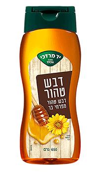 דבש טהור מפרחי בר - 650 גרם לחיץ