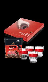 מארז 4 כוסות חבק עם טורקי לדרך